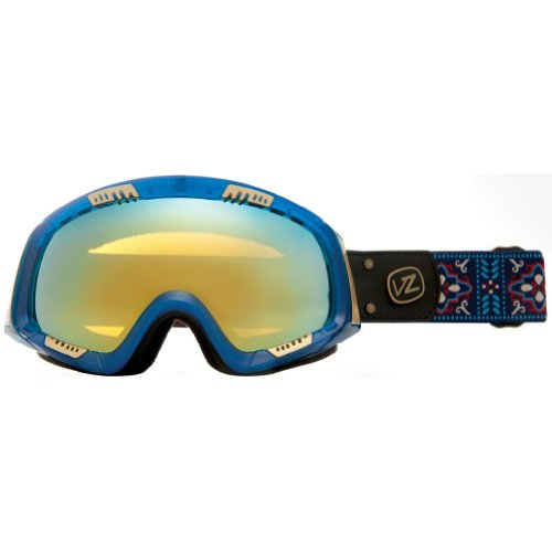 VonZipper Feenom Adult Winter Sport Snowmobile Goggles Eyewear - Gypsy Tears/Gold Chrome / One Size Fits All