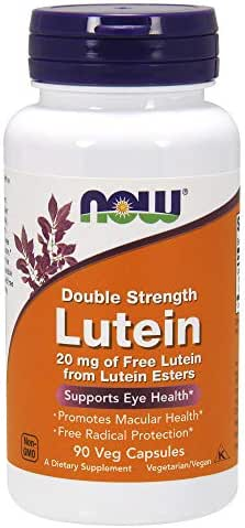 NOW Lutein 20 mg 90 Veg Capsules