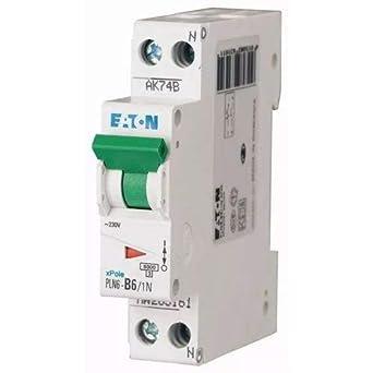EATON PLN6-C6/1N-MW Interruptor Magnetotérmico, 1P+N, Curva C, 6A, Caja de 12: Amazon.es: Industria, empresas y ciencia