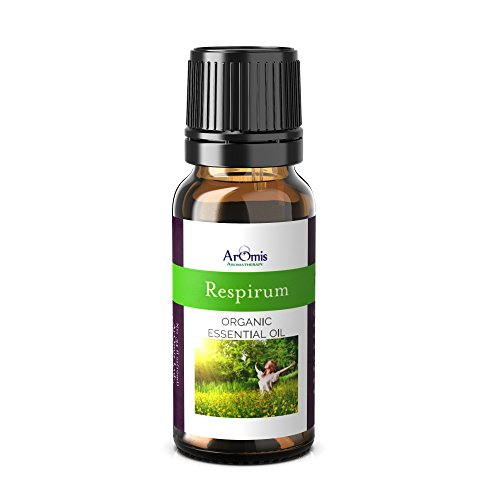 ArOmis Respirum Essential Oil - Certified Organic - 100% Pure Therapeutic Grade - 10ml, Undiluted, Natural, Premium, Massage Oil, Oils Perfect for Aromatherapy, for Sore, Throats, Bronchitis & ()
