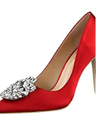 Women's Shoes Silk Stiletto Heel Heels / Pointed Toe / Closed Toe Heels Dress More Colors Available