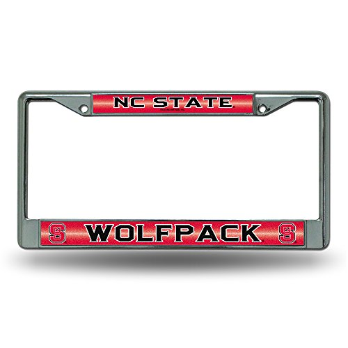 NCAA North Carolina State Wolfpack Bling Chrome Plate Frame (North State Carolina Car)