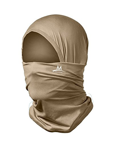 Mission Multi-Cool 12 in 1 Multifunctional Gaiter and Headwear Sand/Tan (Best Clothes For Humid Weather)