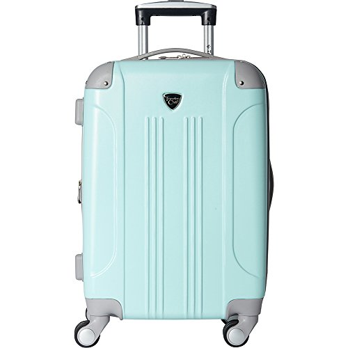 Travelers Club Luggage Modern 20 Inch Hardside Expandable Carry-On Spinner, Turquoise, One Size