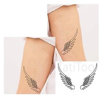 Amazon.com  Angel wings Temporary Tattoo ,Temporary Tattoo