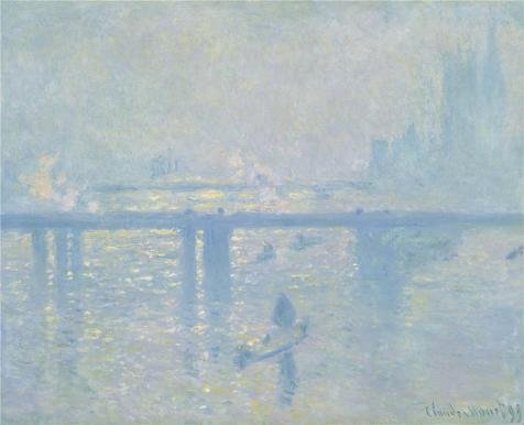 Oil Painting 'Charing Cross Bridge,The Thames,1899 By Claude Monet' 30 x 37 inch / 76 x 94 cm , on High Definition HD canvas prints is for Gifts And Bed Room, Foyer And Home Office decor, affordable