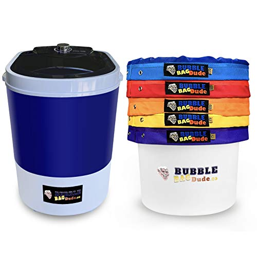 BUBBLEBAGDUDE Bubble Bag Machine 5 Gallon 5 Bag Ice Bubble Bags Mixing Kit 5 Gallon Portable Mini Bubble Washing Machine