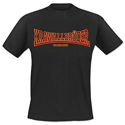 Krawallbrüder - Lonsdale T-Shirt, anthrazit, M