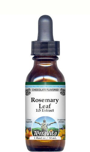 Rosemary Leaf Glycerite Liquid Extract (1:5) - Chocolate Flavored (1 oz, ZIN: (Rosemary Leaf Liquid)