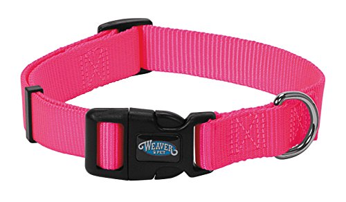 Weaver Leather Prism Snap-N-Go Collar, Large, Hot Pink -
