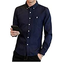 yシャツ メンズ オックスフォード シャツ メンズ 半袖 七分袖 长袖 ...