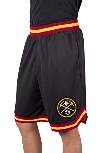 Ultra Game NBA Denver Nuggets Men's Mesh Basketball Shorts Woven Active Basic, X-Large, - Denver Nuggets