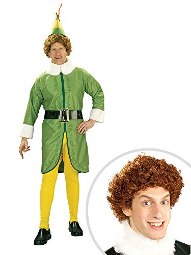 Buddy The Elf Costume Kit Adult Standard with Wig -