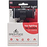 Topside Helmet Light. Bright 100 Lumen Dual Front and Rear Light. Waterproof, Rechargeable, 60 Grams and fits Most Helmets.