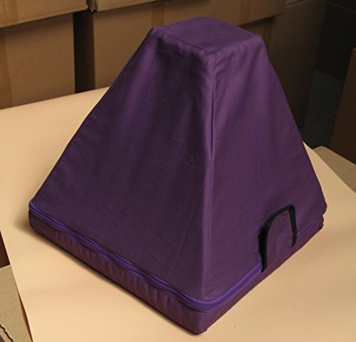 CVNC Purple Color Padded Carrying Case For Crystal Singing Pyramid Putting 3-14 Inch (12 Inch)