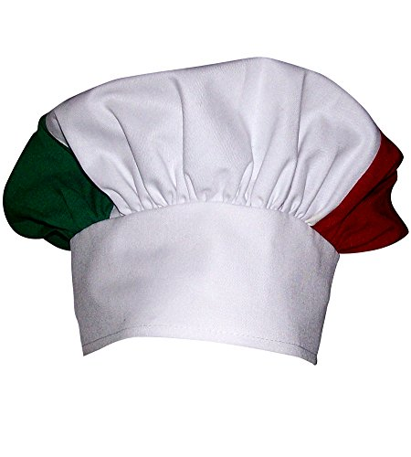 CHEFSKIN KIDS CHILDREN ITALIAN ITALY MUSHROOM CHEF HAT ADJUSTABLE PIZZA ITALIAN (Italian Costume For Kids)