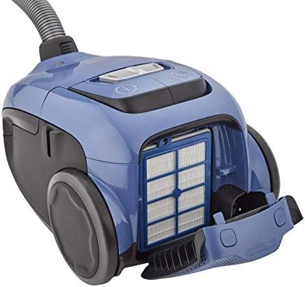 AEG VX8-2-6SB Aspirateur de traîneau avec sac de puissance, grande filtration, rayon d\'action de 12 m, silencieux, 64 dB de bruit, brosses sols durs, brosse parquet, 600 W, bleu