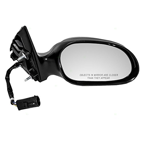 Passengers Power Side View Mirror with Puddle Lamp & Covers Replacement for Ford Taurus Mercury Sable 6F1Z17682A (Taurus Power Side View Mirror)
