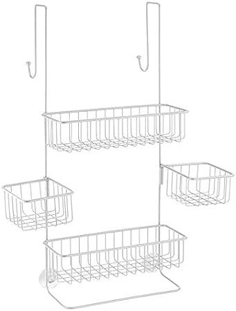 mDesign Estantería de baño colgante – Práctica estantería para ...