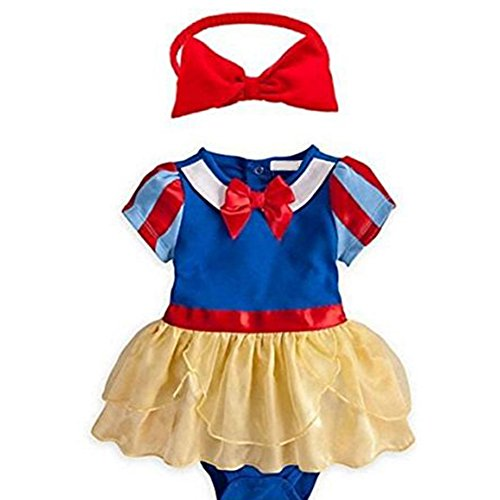 [Snow White Inspired Photo Prop Baby Girl Dress Costume and Headband 2-pc (6-12 Months)] (Snow White Props)