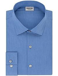 Men's Technicole Slim Fit Stretch Solid Spread Collar...