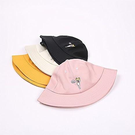 Kanggest Fashion Hat Summer Flax Soft Cotton Breathable Beach Hat Wide Brim Bucket Sun Protector Hats for Women Men Boys Baseball Cap