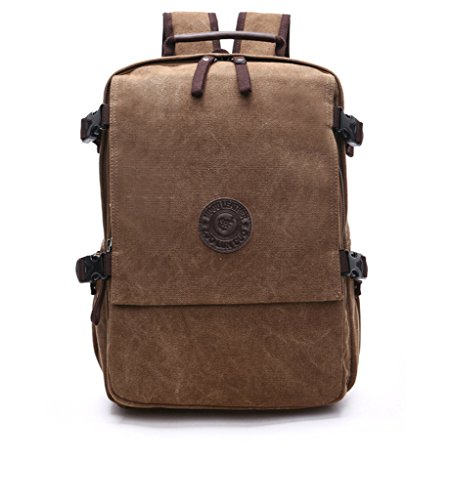 Sechunk Canvas Leather Laptop Backpack