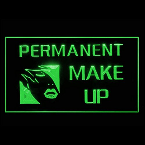 PERMANENT MAKE UP Women Lip Liner Plastic Surgery Clinic LED Light Sign 160014 Color Green (Plastic Surgery Makeup)