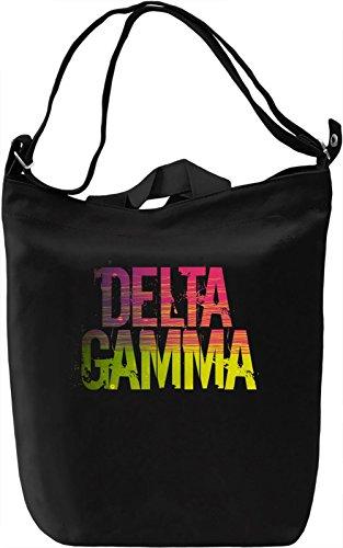 Delta Gamma Borsa Giornaliera Canvas Canvas Day Bag| 100% Premium Cotton Canvas| DTG Printing|
