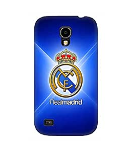 Galaxy S4 Funda Case 3D Cover Real Madrid Football Teams Logo Print Image Hard Back Protect Cute Design pour Man