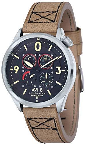 (AVI-8 Mens Lancaster Bomber Watch - Beige/Black)