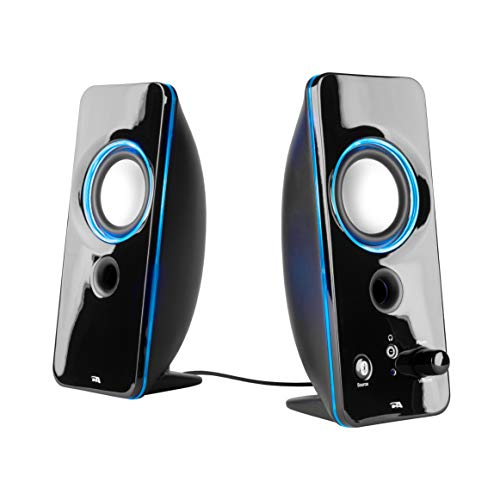Cyber Acoustics 2.0 Color Changing Bluetooth Speaker System - Home Audio for Laptop, PC Computer, Tablet, and Smartphones (CA-SP29BT) (Best Budget Laptop Speakers)