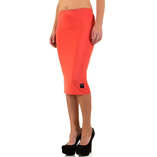 Sixth June Stretch Midi Rock Für Damen , Apricot In Gr. S bei Ital-Design