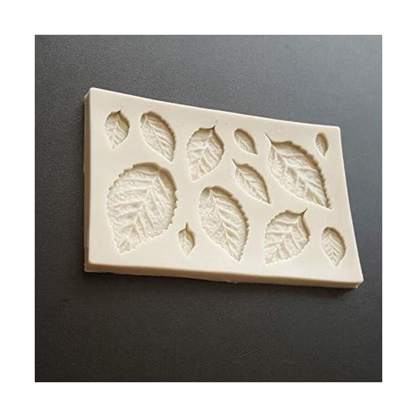 Hosaire - Stampo da pasticceria, pratico, in silicone, per gelato fondente 3D, a forma di foglie, bricolage, decorazione, mini stampi per sapone 5 spesavip