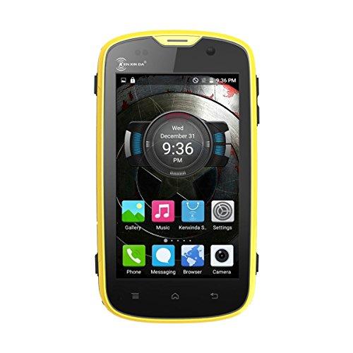 2016 New Hot sale Kenxinda W5 Waterproof Shockproof Mobile Phone IP68 Android 5.1 MTK6735 Quad Core 1GB+8GB 5.0MP 4G FDD LTE Smartphone (Yellow) by KENXINDA