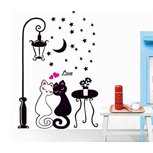 Leguliya Creative Cat Lovers Wall Sticker Cartoon Couples
