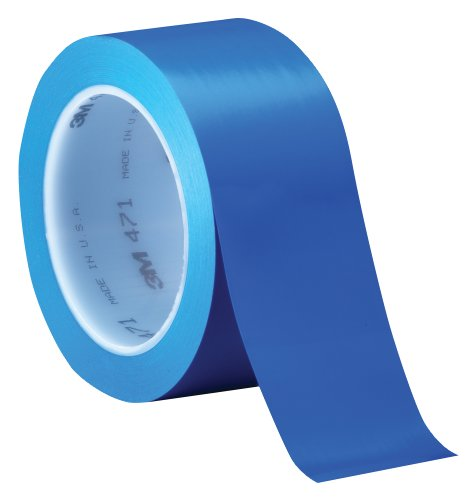 3M Vinyl Tape 471 Blue, 2 in x 36 yd, Conveniently Packaged (Pack of 1) Blue Vinyl Electrical Tape