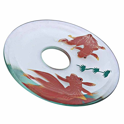 Replacement Waterfall Faucet Glass Disc Tray Plate Koi Fish | Renovator's Supply