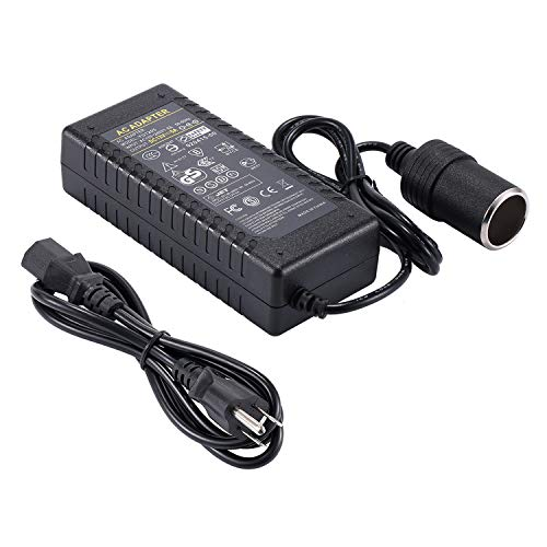 COOLM 12V 5A AC to DC Power Adapter Converter AC 110-220V to DC 12V 5000mA 60W Car Cigarette Lighter Socket DC Power Supply Transformer