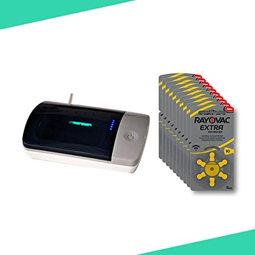 Caja pilas audífonos 10 Audiben60 unidades + comprobador pilas