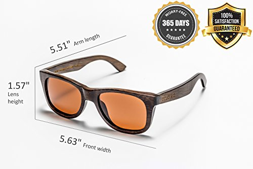 Wood Sunglasses Polarized for Men and Women - Bamboo Wooden Sunglasses Sunnies - Fishing Driving Golf woodies westwood treehut texas paul frank kreed pirana hawkers blenders sunski aunglasses kz 4 HANDMADE WOOD SUNGLASSES