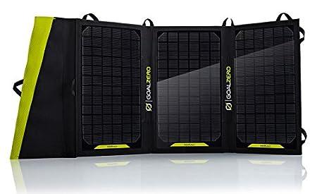 front facing goal zero nomad 20 portable solar panels