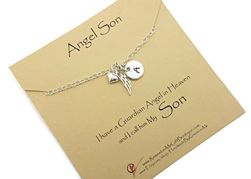 Memorial Necklace Loss of Son, Sympathy Gift, Infant Loss Jewelry, Personalized Sterling Silver