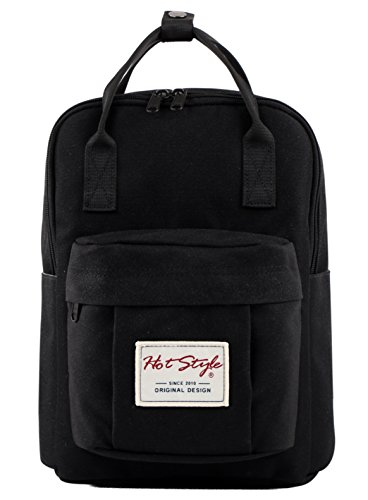 BESTIE 12'' Cute Mini Small Backpack Purse Travel Bag - Black by hotstyle (Image #1)