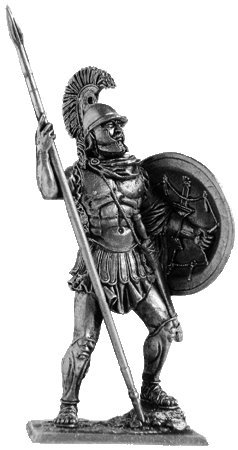 Athenian Collection - Athenian Hoplite (4th Century BC) Tin Toy Soldiers Metal Sculpture Miniature Figure Collection 54mm (Scale 1/32) (A194)