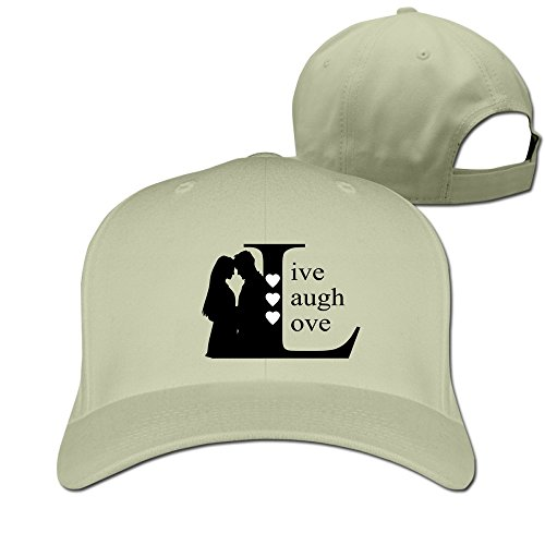 unisex-live-laugh-love-adjustable-snapback-baseball-hat-100cotton-natural-one-size