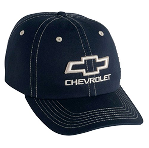 Gregs Automotive Chevrolet Chevy Bowtie Hat Cap Blue - Bundle with Driving Style Decal ()