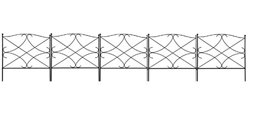 The Best Garden Accents Border Fence Black