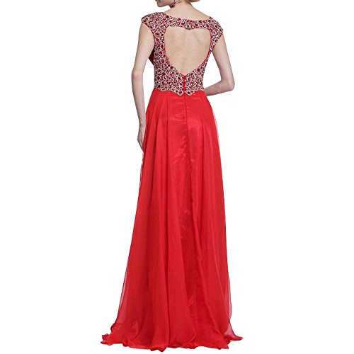 Linie Rot A Chiffon Lang Formalkleider Ausschnitt Elegant Damen Abendkleider Charmant Lila Brautjungfernkleider V Neu qPfBnw