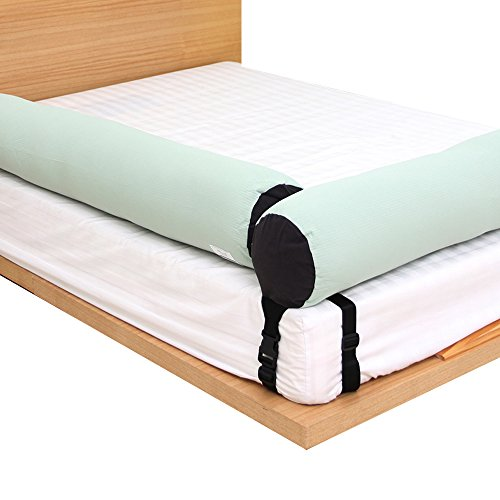 KANGARURU Bed Bumper, Safety Guard Rail, Cushion, Body Pillow for Toddlers, Infants, Kids, Easy Intsall, Prevent Infants from falling, 145cm- Modern Mint Plain by Kangaruru
